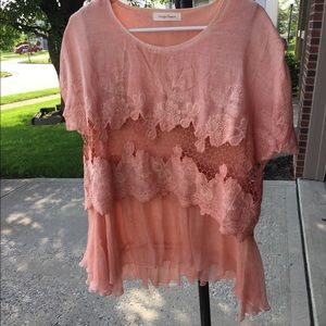 Lady's Top- Simply Couture- peach color- large-